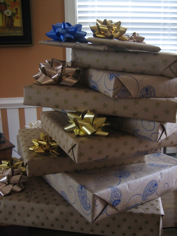 boy, that's a big stack o' presents!
